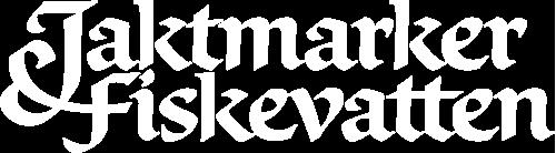 Jaktmarker & Fiskevatten - vit logotyp